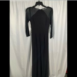 Adrianna Papell Dresses - NWT Adrianna Papell Illusion Jersey Gown black